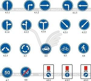 Richtlinie Verkehrszeichen - Vektorgrafik