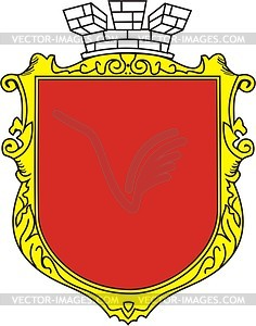 Ukrainischer heraldisher Schild - Vektorgrafik