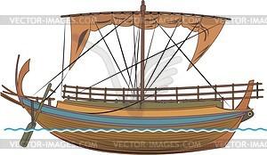Antiker griechische Frachter - Vektorgrafik