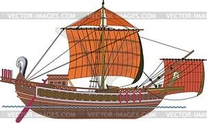Römisch Frachtschiff - Vektorgrafik
