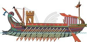Römische Bireme - Vektorgrafik