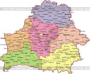 Belarus Karte - Vektor-Clipart