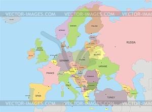 Karte Europas - Vektorgrafik