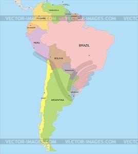 Karte Südamerikas - Vektorgrafik