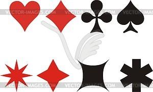 Farbwerte der Spielkarten - Vektorgrafik