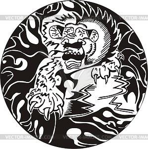 Runder Löwe Dekoration - Vektorgrafik