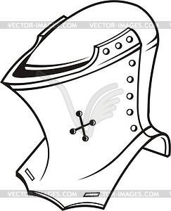 Heraldischer Helm - Vektorgrafik