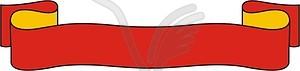 Spruchband - Stock-Clipart