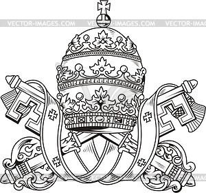 Pope's mitre - vector clip art