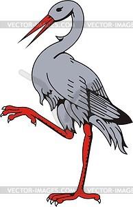 Stork - vector image