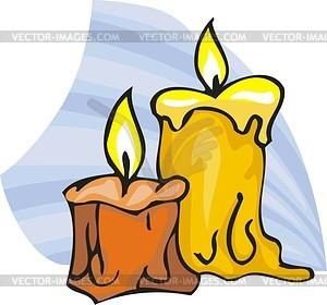 Schmelzende Wachs von Kerzen - Vektorgrafik