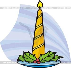 Weihnachtskerze - Vektor Clip Art