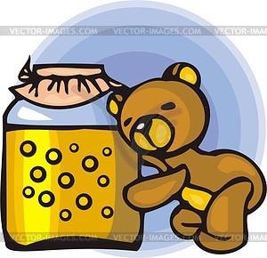 Bär und Honig - Vektorgrafik