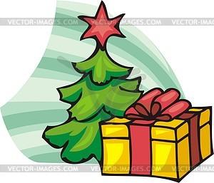 Weihnachtsgeschenk - Vektorgrafik