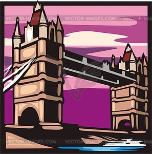 Tower (London) - Vektor-Illustration