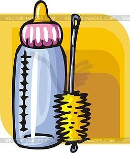 Milchflasche  - Vektor Clip Art