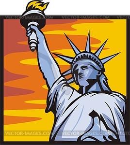 Die Freiheitsstatue in New York - Klipart