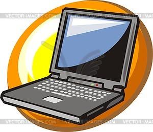 Ноутбук - изображение в векторе / векторный клипарт