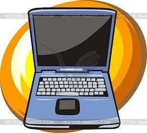 Ноутбук - цветной векторный клипарт