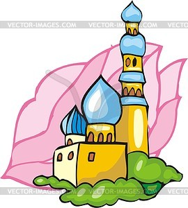 Mosque - color vector clipart