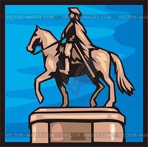 Riga. Peter I. Denkmal. - Vektorgrafik