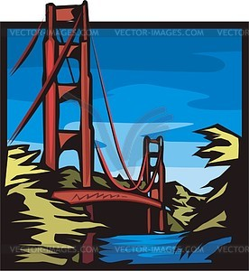 Golden Gate (San Francisco) - Vektorgrafik