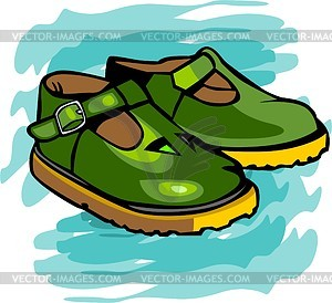 Schuhe für Kinder - farbige Vektorgrafik