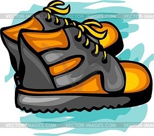Schuhe für Kinder - vektorisiertes Clip-Art