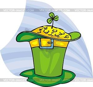 Grüner Hut mit Gold - Vektorgrafik