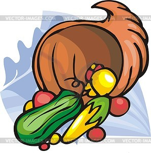 Thanksgiving Tag - Stock Vektor-Clipart