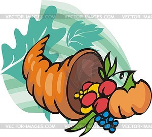 Thanksgiving Tag - vektorisiertes Clipart