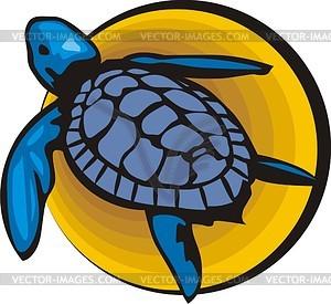 Черепаха - рисунок в векторном формате
