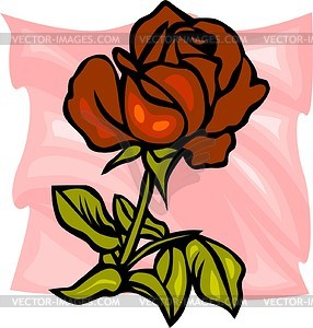 Rote Rose - Vektor-Clipart / Vektor-Bild