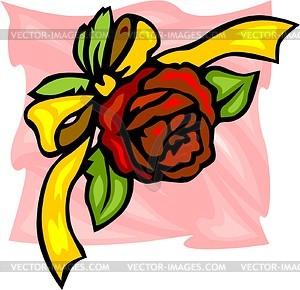 Rote Rose - Vektorgrafik-Design