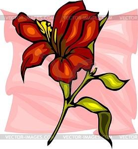 Rote Blume - Vektor-Skizze