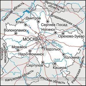 Karte von Moskau Oblast - Vektor-Abbildung
