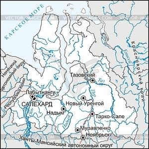 Karte von Jamal-Nenetsia - Vektorgrafik
