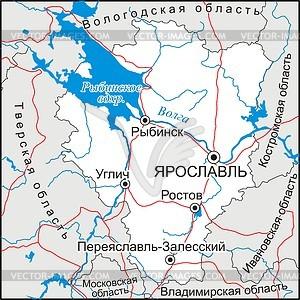 Подробная топографическая карта Ярославской области