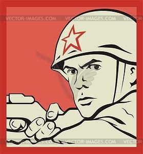 Sowjetsoldaten - Vektorgrafik