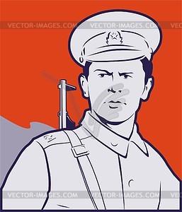 Sowjetisches Grenztruppen Plakat - Vektor-Clipart / Vektorgrafik