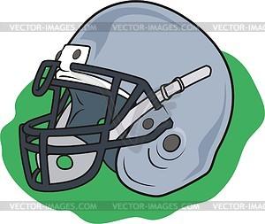 Ausrüstung für Amerikanishen Fußball - Vektorgrafik