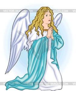 Engelchen betet - Vektorgrafik