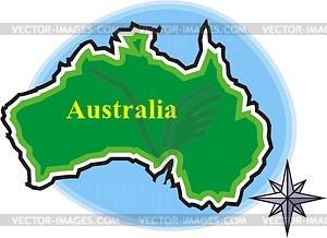 Australien - Vektorgrafik