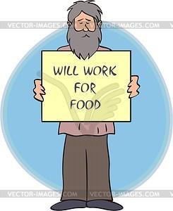 Beggar - vector clipart
