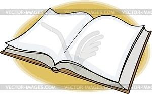 Geöffnetes Buch - Vektorgrafik