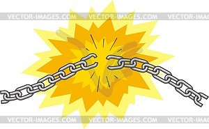 Broken chain - vector clipart