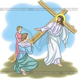 Jesus Christus - Vinyl-Ready Vektor-Clipart