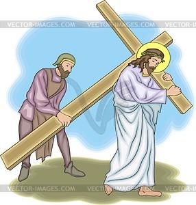 Jesus Christus - Stock Vektorgrafik
