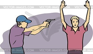 Kriminalität - Vektor-Clipart / Vektorgrafik