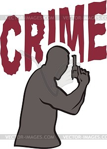 Kriminalität - farbige Vektorgrafik